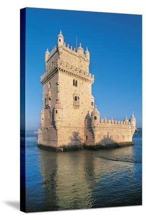 Portugal, Lisbon, Belem Tower--Stretched Canvas Print