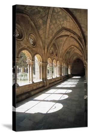 Cloister, Tarragona Cathedral--Stretched Canvas Print
