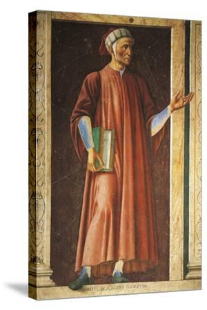 Portrait of Dante Alighieri--Stretched Canvas Print