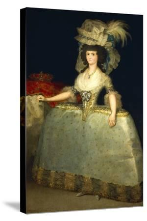 Portrait of Maria Luisa of Parma--Stretched Canvas Print