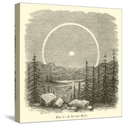 A Lunar Halo--Stretched Canvas Print