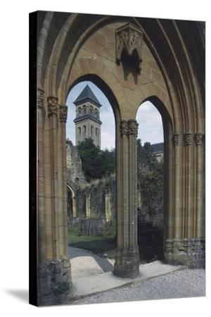View of the Abbey of Notre-Dame D'Orval--Stretched Canvas Print