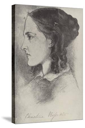Christina Rossetti, English Poet-Dante Gabriel Rossetti-Stretched Canvas Print