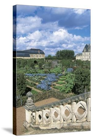 Chateau De Villandry and Gardens, Loire Valley--Stretched Canvas Print