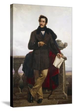Portrait of Gaetano Doninzetti--Stretched Canvas Print