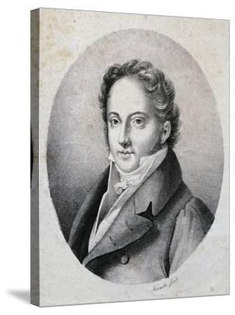 Portrait of Gioacchino Rossini--Stretched Canvas Print