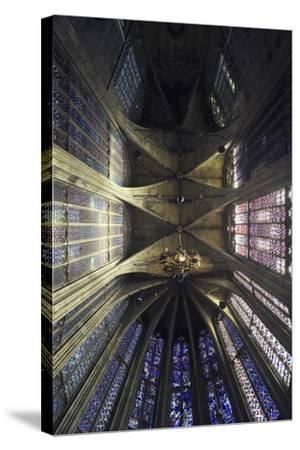 Ceiling and Stained Glass, Aachen Cathedral--Stretched Canvas Print