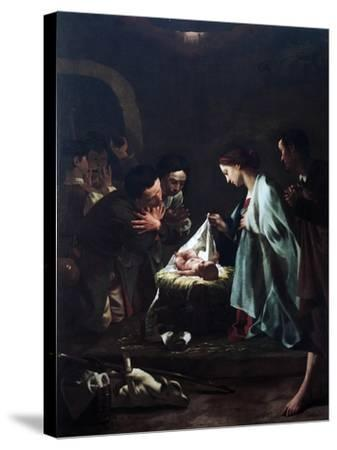 Adoration of Shepherds-Federico Bencovich-Stretched Canvas Print