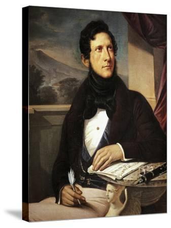 Portrait of Gaetano Donizetti--Stretched Canvas Print