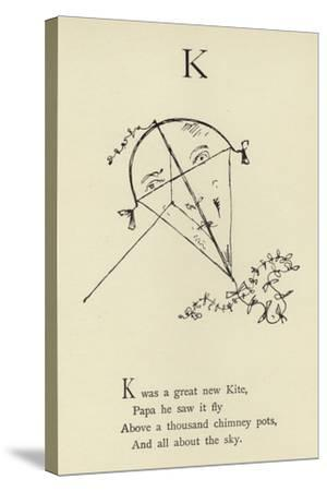 The Letter K-Edward Lear-Stretched Canvas Print
