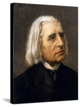 Portrait of Franz Liszt--Stretched Canvas Print