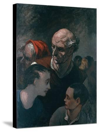 Group of Figures, 1854-Honore Daumier-Stretched Canvas Print