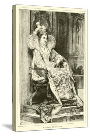 Elizabeth of England--Stretched Canvas Print