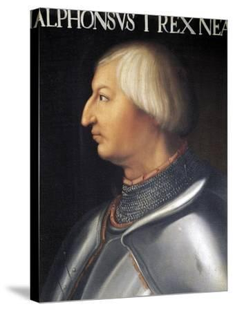 Portrait of Alfonso V of Aragon--Stretched Canvas Print