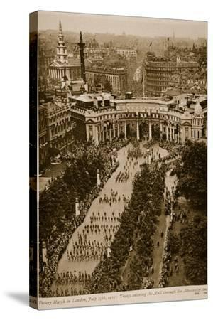 Victory March in London, July 19Th, 1919--Stretched Canvas Print