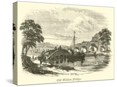 Old Walton Bridge--Stretched Canvas Print