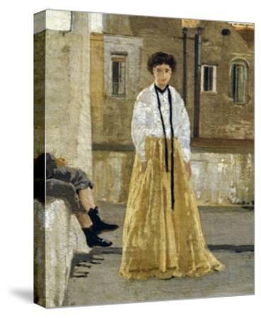 The Terrace-Edoardo Dalbono-Stretched Canvas Print
