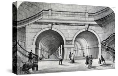 The Thames Tunnel--Stretched Canvas Print