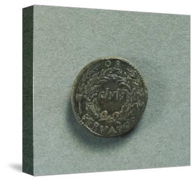 Reverse with Sestertius of Emperor Augustus--Stretched Canvas Print