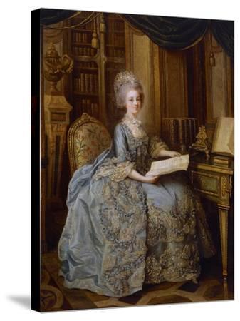 Portrait of Marie Antoinette--Stretched Canvas Print
