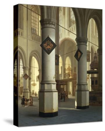 Austria, Vienna, Painted Image of Oude Kerk--Stretched Canvas Print