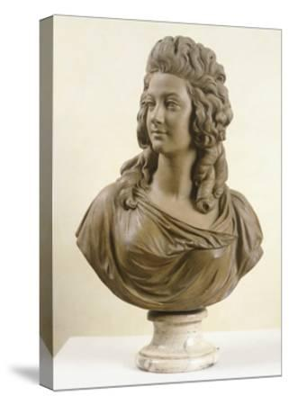 Bust of Young Woman, by Augustin Pajou--Stretched Canvas Print