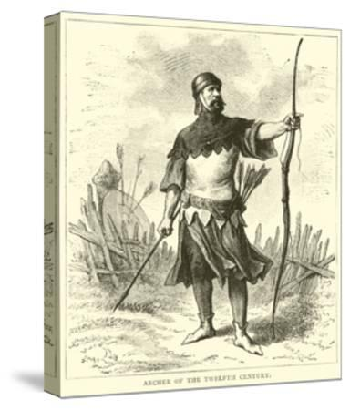 Archer of the Twelfth Century--Stretched Canvas Print