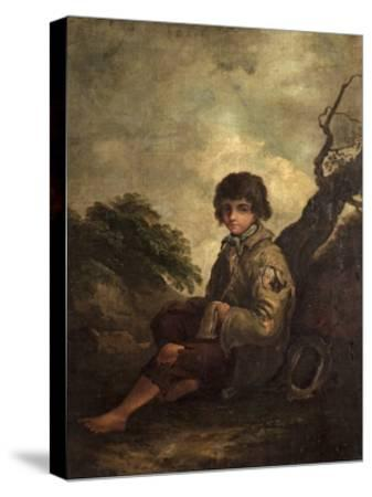 A Young Ballad Singer-Thomas Barker-Stretched Canvas Print