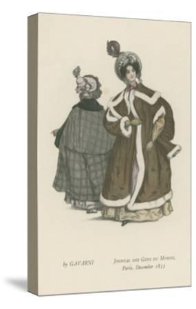 Journal Des Gens Du Monde, Paris, December 1833--Stretched Canvas Print
