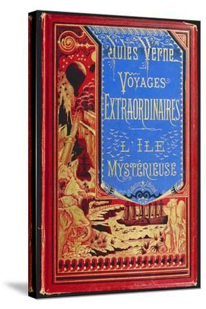 Cover of Mysterious Island, by Jules Verne--Stretched Canvas Print