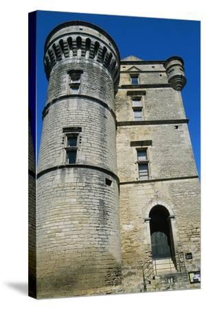 Gordes Castle--Stretched Canvas Print