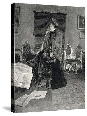 Italian Actress Eleonora Duse--Stretched Canvas Print