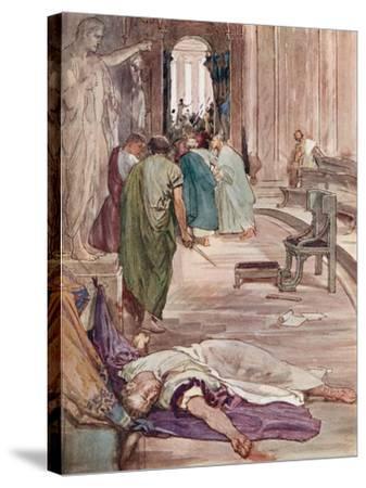 The Murder of Caesar-William Rainey-Stretched Canvas Print