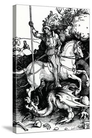 St. George and the Dragon, 1504-Albrecht D?rer-Stretched Canvas Print
