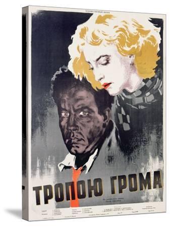 Soviet Film Poster, C.1956--Stretched Canvas Print