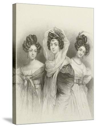 Three Beauties-Henri Grevedon-Stretched Canvas Print