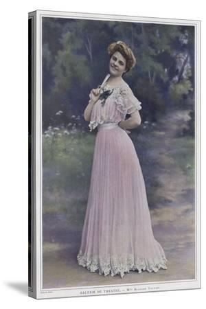 Blanche Toutain, French Actress--Stretched Canvas Print