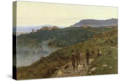 Four Veterans, Circa 1885-Eugenio Cecconi-Stretched Canvas Print