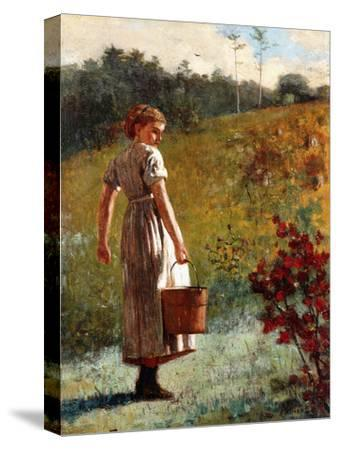 Returning from the Sping, 1874-Winslow Homer-Stretched Canvas Print