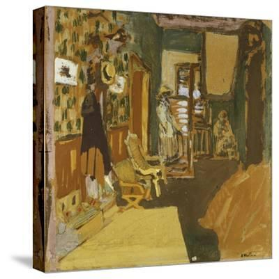 Mme Hessel in the Hallway, C.1909-Edouard Vuillard-Stretched Canvas Print