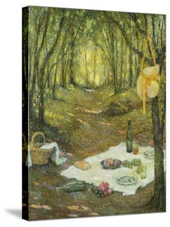 Le Gouter Sous Bois, Gerberoy, 1925-Henri Eugene Augustin Le Sidaner-Stretched Canvas Print