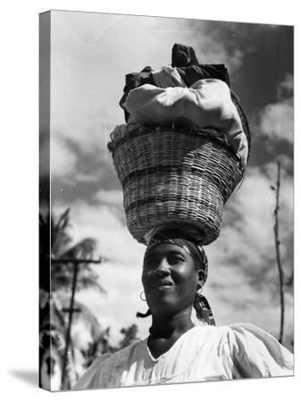 Haitian Woman Vendor, C.1959--Stretched Canvas Print