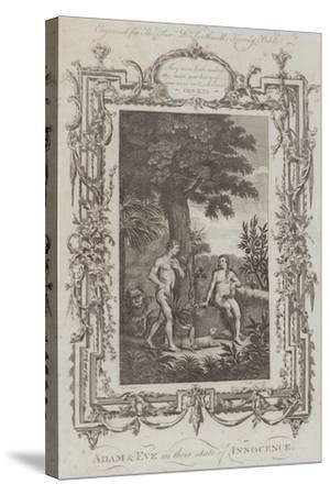 Adam and Eve, the Garden of Eden--Stretched Canvas Print