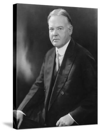 Portrait of Herbert Hoover--Stretched Canvas Print