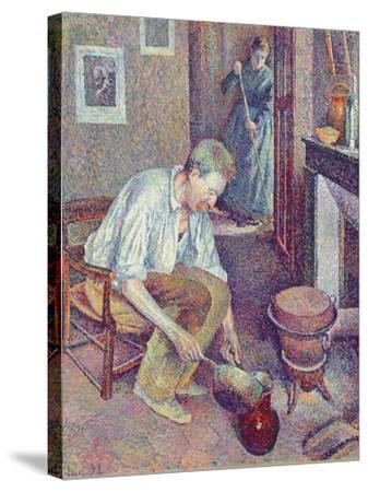 The Coffee, 1892-Maximilien Luce-Stretched Canvas Print