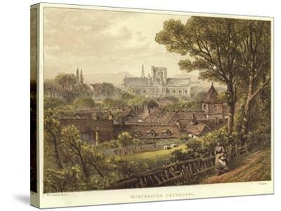 Winchester Cathedral in Winchester--Stretched Canvas Print