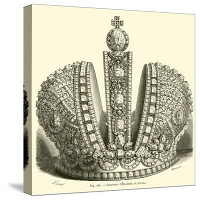 Crown of Elizabeth of Russia--Stretched Canvas Print