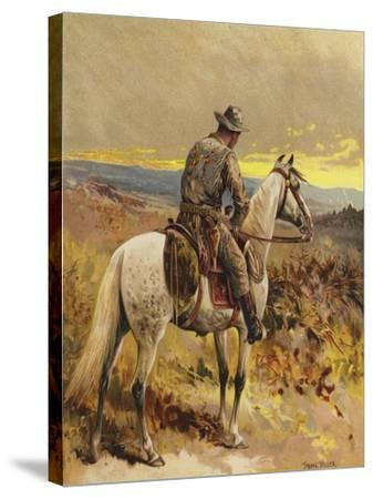 A Scout - North America-Frank Feller-Stretched Canvas Print