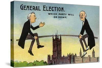 General Election. Which Party Will Go Down?--Stretched Canvas Print