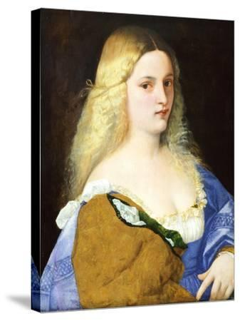 Violante, by Titian--Stretched Canvas Print